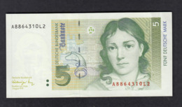 Banknote Deutsche Bundesbank 1991 / 5 DM - [ 7] 1949-… : FRG - Fed. Rep. Of Germany