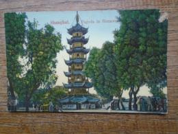 "Shanghai , Pagoda In Siccawei """" Carte Animée """" - Cina"
