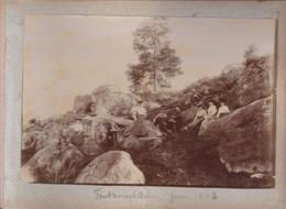 8 Photographies  Fontainebleau Ensemble De 8 Photographies De Particulier Toutes Situés RARE ( Ref 191180) - Lieux
