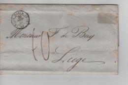 PR7544/ Précurseur LAC C.Paris 1846 Port 10 > Liège Belgique C.d'arrivée - 1801-1848: Precursores XIX