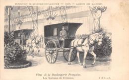 EXPOSITION DE MEUNERIE-BOULANGERIE-1903-FÊTE DE LA BOULANGERIE FRANCAISE LES VOITURES DE LIVRAISON - Expositions