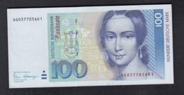 Banknote Notenbrief Deutsche Bundesbank 1989 / 100 DM - [ 7] 1949-… : RFA - Rép. Féd. D'Allemagne