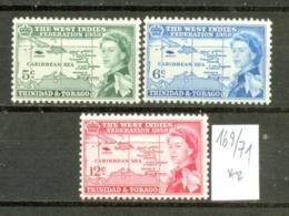 TRINIDAD & TOBAGO - 169/71  BWI-Federation Kompl. Postfrisch - Trinidad & Tobago (...-1961)