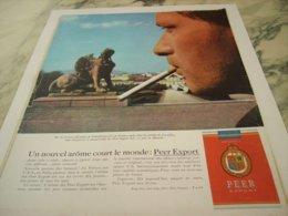 ANCIENNE PUBLICITE  VIENNE NOUVEL AROME CIGARETTE PEER EXPORT 1963 - Tabac (objets Liés)