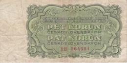 BILLETE DE CHECOSLOVAQUIA DE 5 KORUN DEL AÑO 1961 (BANKNOTE) - Czechoslovakia