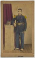 CDV Militaire Rehaussée. Infanterie De Marine. Photographe Bonio à Toulon. Militaria. Soldat. Sous-officier. - Photos