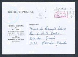 Postal Stationery Do Hospital Distrital De Leiria. Duplo Porte Avença / Taxa Paga. Medicine. Sick. Health. Sláinte. 2sc - Malattie