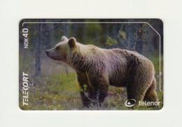 NORWAY Telenor - Brown Bear, N-199 *Chip* 40 Kr Issued 3000 Pcs. - Norwegen