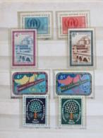 United Nations (New York) 1959 - 1960 MINT Stamps - Refugees - Bridge - Economic Developpment - Trees - FAO - New-York - Siège De L'ONU