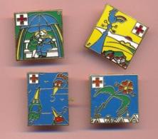 Pins- B3724- Lot 4 Pins D'après Dessin De Tomi Ungerer Pour La Croix Rouge - Pin's