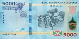 Burundi (BRB) 5000 Francs 2018 (2019) UNC Cat No. P-53b / BI239b - Burundi