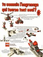 """PUB  """" ENGRENAGES QUI TOURNE TOUT SEUL """" """" LEGO """"   1970 - Lego"""