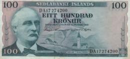 (B0014) ICELAND, L. 1961. 100 Kronur. P-44a. VF - Iceland