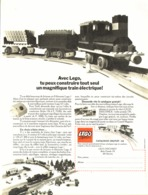 "PUB  "" TRAIN ELECTRIQUE "" "" LEGO ""   1970 - Lego"