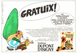 "PUB "" DUPONT D'ISIGNY  ""  Et  "" ASTERIX Et OBELIX  ""   1970 - Astérix"