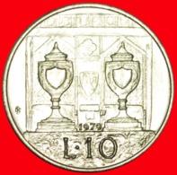 + BALLOT BOXES: SAN MARINO ★ 10 LIRE 1979 UNC MINT LUSTER! LOW START ★ NO RESERVE! - San Marino