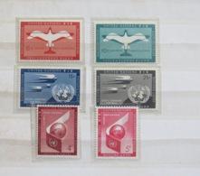 United Nations (New York) 1951 - 1959 MINT Stamps - Air Mail - Birds - New-York - Siège De L'ONU
