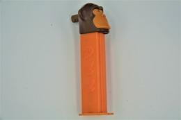 Vintage PEZ DISPENSER : MONKEY WHISTLE Merry Music Maker - 1980's - Us Patent Made In Austria L=10.5cm - Figurines