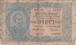 BILLETE DE ITALIA DE 10 LIRAS DEL 29/07/1918 UMBERTO I  (BANKNOTE) - Italia – 10 Lire