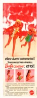 """PUB POUPEE   """" BARBIE Et SKIPPER """"   1970 (26 ) - Barbie"""