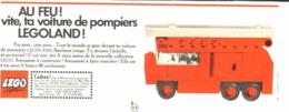 """PUB  """" CAMION DE POMPIER  """" """" LEGO """"   1970 - Lego"""
