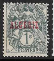 Yvert 2 Maury 2 - 1 C Type Blanc Gris Noir Type I - (*) - Algérie (1924-1962)