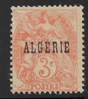 Yvert 4 Maury 4a - 3 C Type Blanc Orange Type I - Papier GC - (*) - Algérie (1924-1962)