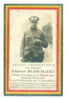 WO1 / WW1 - Doodsprentje Edmond Blanchaert - Mariakerke / Hoogstade - Gesneuvelde - Obituary Notices