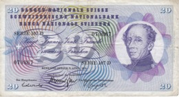 BILLETE DE SUIZA DE 20 FRANCS DEL AÑO 1976 (BANKNOTE) - Zwitserland