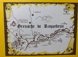 12043 - Grenache De Roquebrun Carte Topographique - Etiquettes