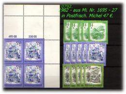 Österreich - Aus Mi. Nr. 1664 - 94 In Postfrisch - Jahrgang 1981 - 1981-90 Ungebraucht