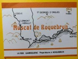 12044 - Muscat De Roquebrun Carte Topographique Ulysse Garriguenc - Etiquettes
