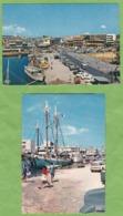 2 Belles CPSM GUADELOUPE POINTE à PITRE Place De La Victoire + Quai Submersible Citroen DS Break Animé - Guadeloupe
