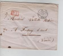 PR7548/  Précurseur LSC C.Paris 1844 Port 5 P.P. Encadré > Fontenay-Le-Comte Vendée C.d'arrivée - 1801-1848: Precursores XIX
