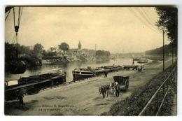 93. SAINT-DENIS . CPA . Le Port Et L'ile (ile Saint-denis). Attelages / Tombereau / Péniches. - Saint Denis