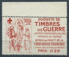 3226 - Vignette Croix Rouge Pochette De Timbres De Guerre WW1 Union Des Femmes De France Cinderella Errinophilie RARE - Erinnophilie