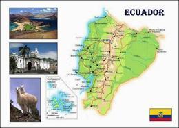 Ecuador Country Map New Postcard Ekuador Landkarte AK - Ecuador