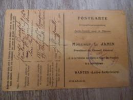 Carte De Secours Aux Prisonniers De Guerre, Bourget Georges, 135e RI, Originaire De Ancenis, Interné à Bayreuth - Bayreuth