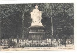 BESANCON . STATUE DE VICTOR HUGO . Edt J.LIARD . CARTE COLORISEE AFFR AU VERSO LE 7-7-1906 . 2 SCANES - Besancon