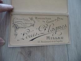PUb Publicité Nuancier Louis Plagnes Millau Manufacture De Gants De Peaux 3 Volets - Pubblicitari
