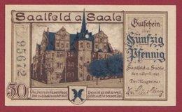 Allemagne 1 Notgeld  De 50 Pfenning Stadt  Saalfeld A Saale  Dans L 'état N° 4968 - [ 3] 1918-1933 : République De Weimar