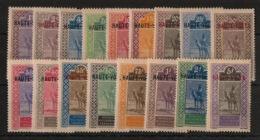 Haute-Volta - 1920 - N°Yv. 1 à 17 - Série Complète - Neuf Luxe ** / MNH / Postfrisch - Neufs