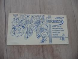 Pub Publicité  Buvard Publicitaire Pneus Hutchinson Illustré Par Mich Moto Vélo Scooter - Motos & Bicicletas