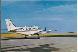 Cpsm Rouen Boos, Aéroport, Beecheraf 99, Avion Moyen Courrier Air Paris - Aérodromes