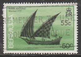 Bermuda 1986 Ships Wrecked On Bermuda 50 C Surcharged 55 Multicoloured SW 483 O Used - Bermuda