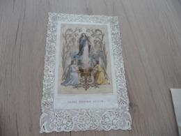 Canivet Ancien Religion Dentelle XIXème Surement Grand Format 16 X 25.5 Environs Saintin/Lemercier Causa Nostra Letitiae - Andachtsbilder