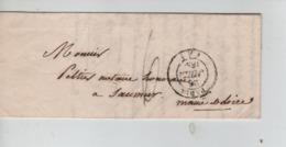 PR7550/ Précurseur LAC Paris 1838 Port 6 > Saumur C.d'arrivée - 1801-1848: Precursores XIX