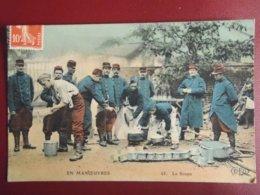 CPA 1908 EN MANOEUVRE LA SOUPE . TOUL BOIS L'EVEQUE - Manoeuvres
