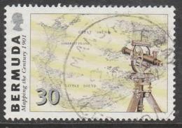 Bermuda 1999 The 100th Anniversary Of First Digital Map Of Bermuda 30 C Multicoloured SW 767 O Used - Bermuda