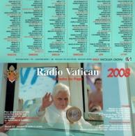 Calendrier 2008 De Radio Vatican Avec 2 Photos Du Pape Benoît XVI - Calendriers